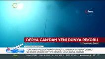 Derya Can'dan Salda Gölü'nde yeni dünya rekoru