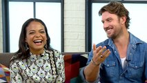 Watch Christina Milian & Adam Demos Hilariously Try to Translate New Jersey & Aussie Slang
