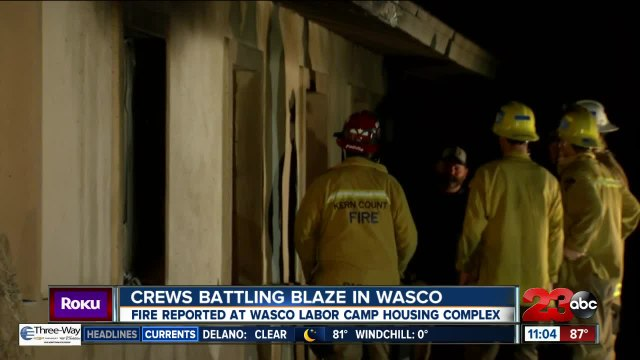 Kern County Fire crews battle blaze in Wasco