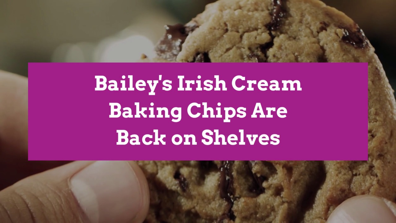 Bailey's Irish Cream Baking Chips Are Back on Shelves