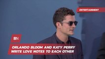 Love Notes Between Orlando Bloom And Katy Perry