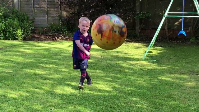 Footballer Tyke Takes Out the Camera