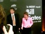 Bill Gates - Laurence Parisot - Medef
