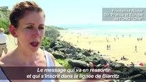 G7 Biarritz: le beach art au service de l'égalité homme-femmes