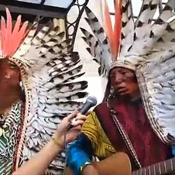 Indigenous leaders join climate activists at rally for Amazon Rainforest