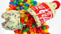 How To Make Coca Cola Cookies-Cream Chocolate Bottle with Colors M-Ms Chocolate DIY