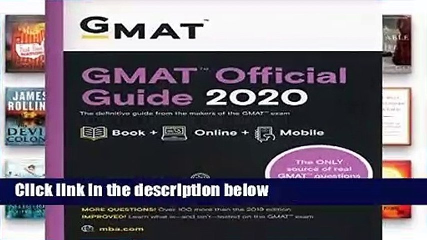 GMAT Official Guide 2020: Book + Online  For Kindle