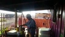 Ação Social: Grupo de pintores realiza reforma em casa de idoso na Região Norte