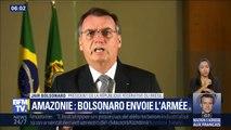 Amazonie: Jair Bolsonaro envoie l'armée pour lutter contre les incendies