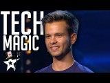 Spanish Magician Stuns Judges With Social Media - Magicians Got Talent