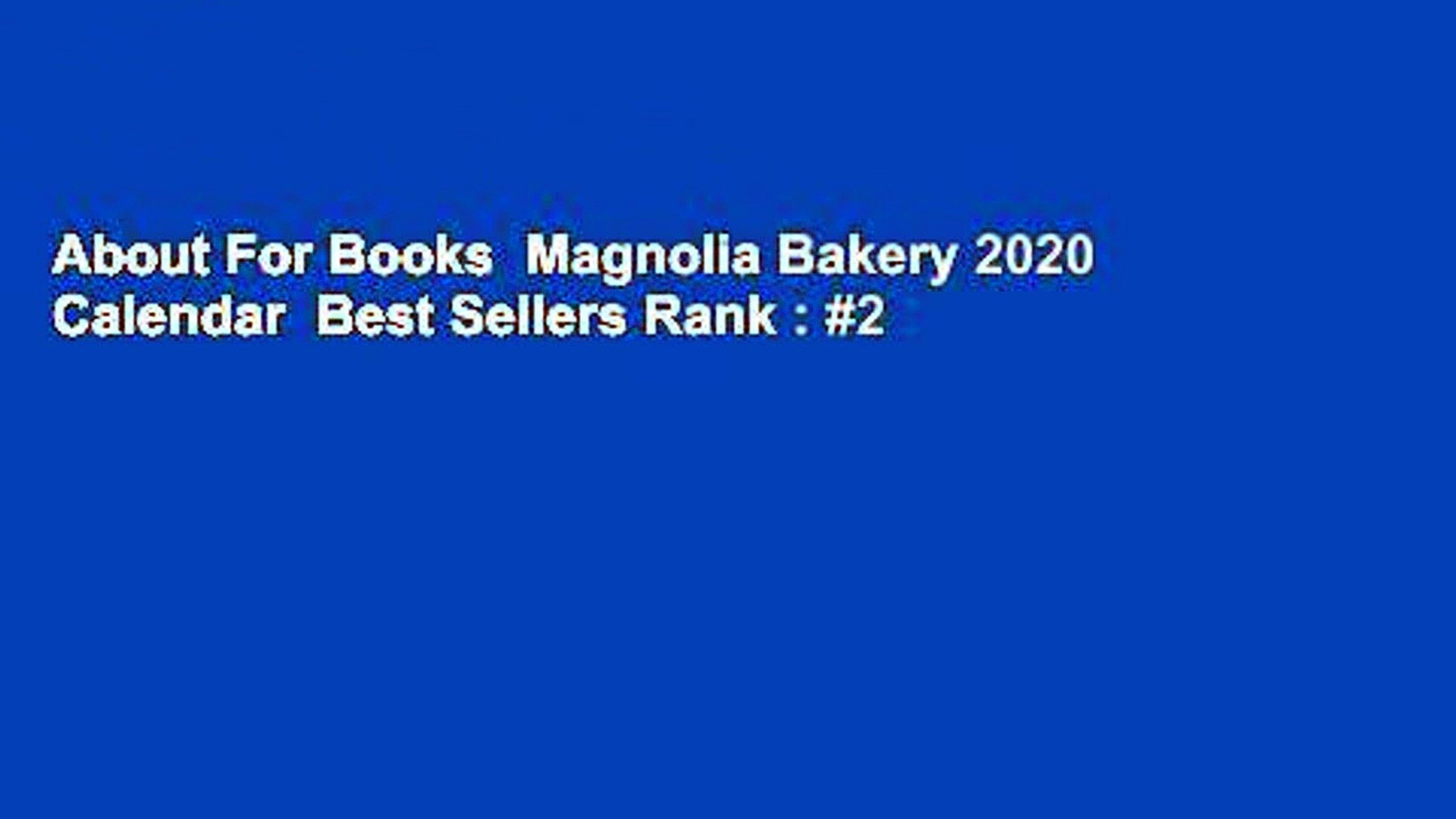 Best Seller Books 2020.About For Books Magnolia Bakery 2020 Calendar Best Sellers Rank 2