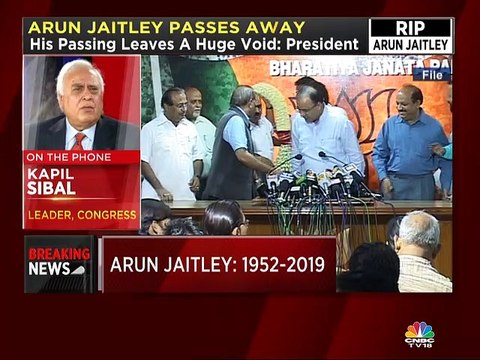 Arun Jaitley always kept a sense of balance wherever he stood both in politics and otherwise, says Kapil Sibal
