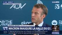 """E.Macron à Biarritz: """"Avec ce G7, on fait ce qu'on a dit sur l'égalité homme-femme, sur la responsabilité environnementale"""""""