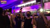 Hong Kong : les manifestants forment une immense chaîne humaine (vidéo)
