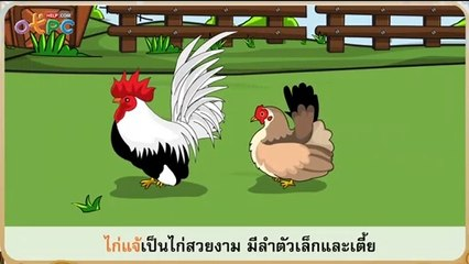 สื่อการเรียนการสอน ไก่แจ้แซ่เสียง ตอนที่ 1ป.2ภาษาไทย