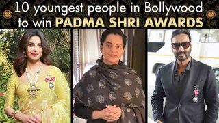 10 Young Bollywood Actors To Win Padma Shri Awards | Priyanka, Kangana, Shahrukh, Amitabh