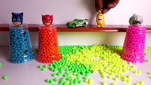 Pj Masks Slime Balloons, Learn Colors with Balloons Slime Beads Pj Masks Wrong Heads