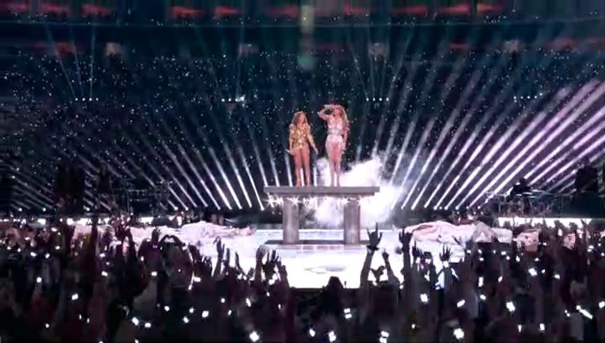 Super Bowl LIV (54) 2020 Halftime Show Shakira and Jennifer Lopez Performance