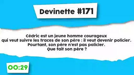 Devinette #171 : Cedric