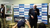 """Bernie Sanders rallies volunteers in Iowa on eve of caucuses: """"We will defeat Donald Trump and we're going to defeat him badly"""""""