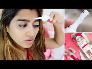VEET Hair Trimmer Review _ How to Use Remove Facial Hair, Eyebrows,  Pubic Hair