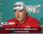 Super Bowl LIV - Andy Reid salue la performance de Mahomes