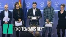 """Los independentistas firman un manifiesto contra la monarquía por ser """"heredera del franquismo"""""""