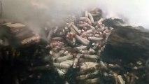 शामली क्रोकरी फैक्ट्री में आग, 50 लाख का नुकसान