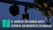El avión de Air Canada AC837 aterriza sin incidentes en Madrid