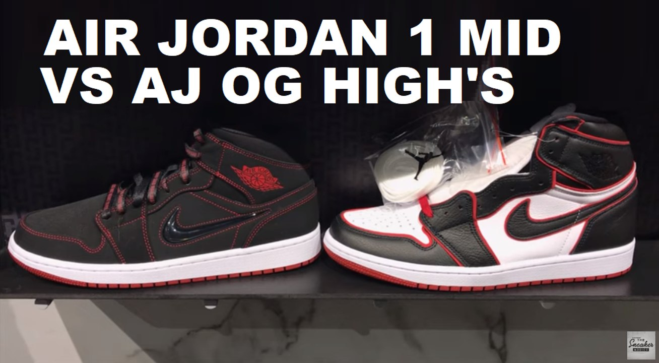 air jordan 1 mid vs high top