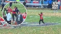 Kansas City Chiefs fan runs on field and gets tackled