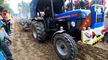 Powertrac Euro 60 tractor pulling 2 harrow in the harrow competition