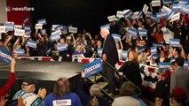Bernie Sanders jokes as 'inconsistencies' delay Iowa caucus results