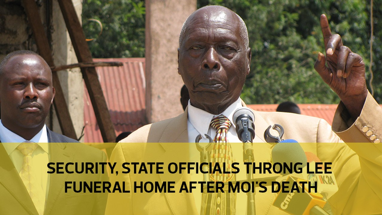 Security State Officials Throng Lee Funeral Home After Moi S