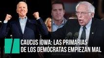 Caucus Iowa: las primarias de los demócratas empiezan mal