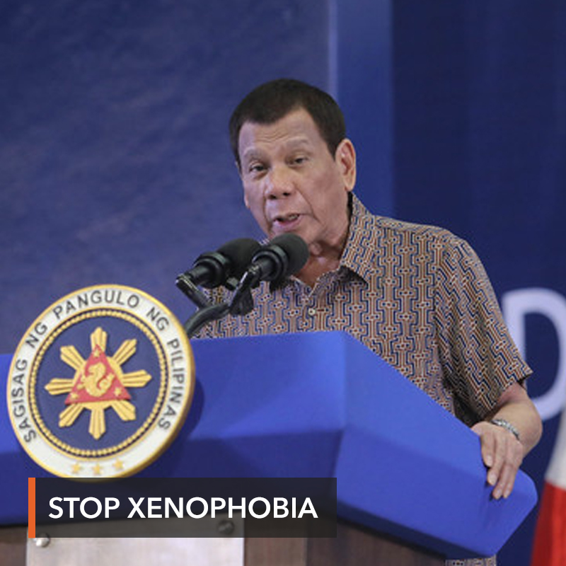 As coronavirus spreads, Duterte hits 'xenophobia' vs Chinese