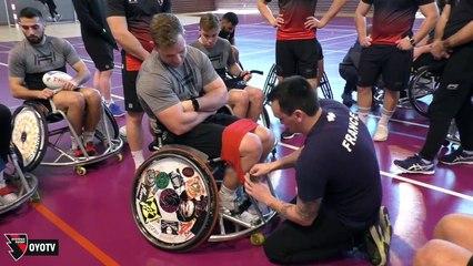 Initiation au rugby fauteuil avec les Dahus d'Arbent