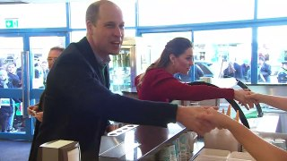 Prince William and Kate visit ice cream parlour by sea front