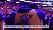 Lakers Are All Introduced as Kobe Bryant in an Emotional Tribute Before First Game Since Fatal Crash