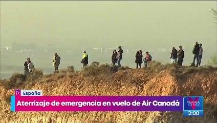 Avión de Air Canada aterriza con éxito en España