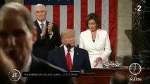Donald Trump refuse de serrer la main à Nancy Pelosi qui décide de déchirer le discours du Président sur l'état de l'Union