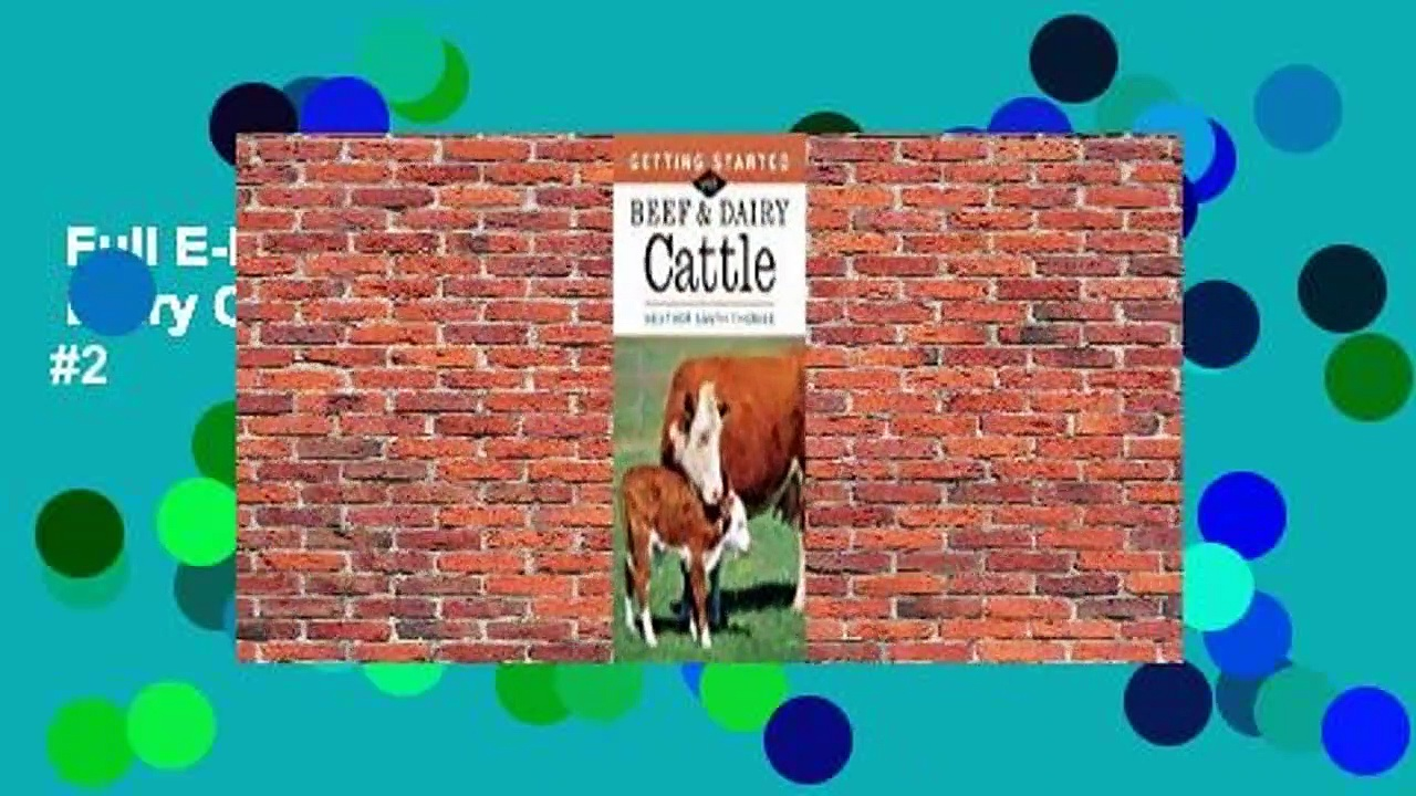 Full E-book  Getting Started with Beef  Dairy Cattle  Best Sellers Rank : #2