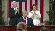 Trump snubs Pelosi, she tears up his speech