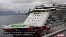 Al menos 10 contagiados de coronavirus en un crucero japonés en cuarentena