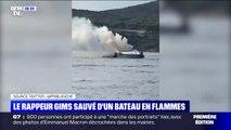 Le rappeur Gims a été sauvé d'un bateau en flammes au large de la Corse