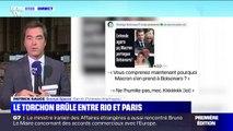 Brésil: le président Jair Bolsonaro se moque sur Facebook d'Emmanuel et Brigitte Macron