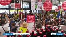 Angers: L'ouverture du premier supermarché sans caissière hier après-midi a viré au fiasco technique et à la pagaille avec des manifestants dans les allées