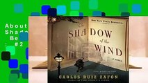 About For Books  The Shadow of the Wind  Best Sellers Rank : #2