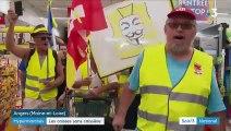 """Maine-et-Loire : les """"gilets jaunes"""" perturbent l'ouverture d'un Géant Casino le dimanche sans caissière"""