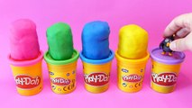 288.English Color School for Kids   Play-Doh Surprise Eggs